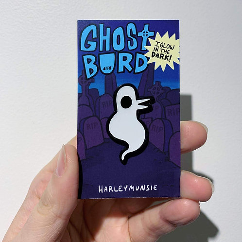 Ghost Burd enamel pin