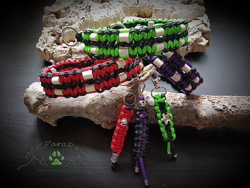 Set - EM-Keramik Hundehalsband und Schlüsselanhänger