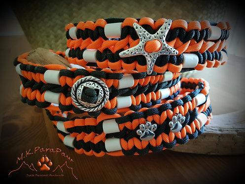 Hundehalsband mit EM-Keramik 2 Reihen