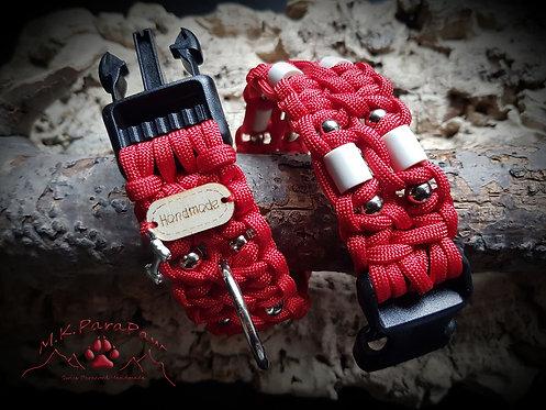 Red Pearl EM-Keramik Hundehalsband
