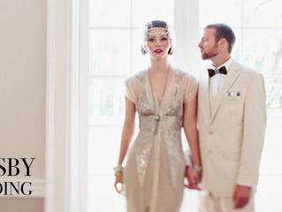 สไตล์ Gatsby เทรนด์ชุดแต่งงานปี 2017
