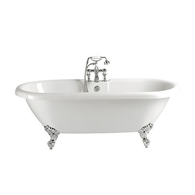 Oban Free Standing Acrylic Double Ended Roll Top Bath | Heritage