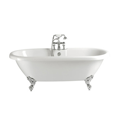 Oban Freestanding Acrylic Double Ended Roll Top Bath | Heritage
