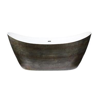 Alderley Mock Croc Skin Effect Freestanding Acrylic Double Ended Bath | Heritage