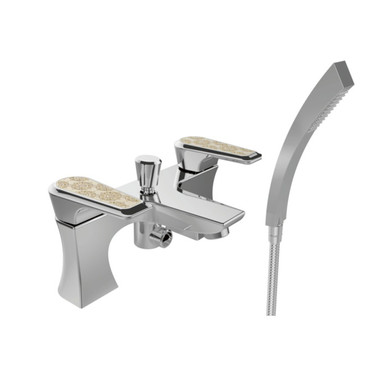 Lymington 3 Taphole Bath Shower Mixer | Heritage