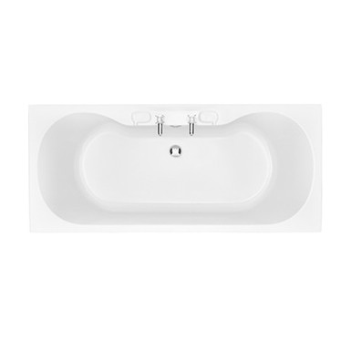 Claverton Acrylic Double Ended Fitted Bath 420mm High | Heritage