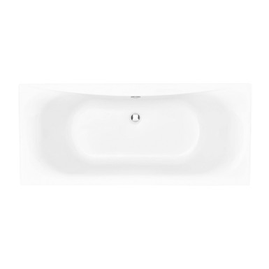 Claverton Acrylic Double Ended Fitted Bath 400mm High   Heritage
