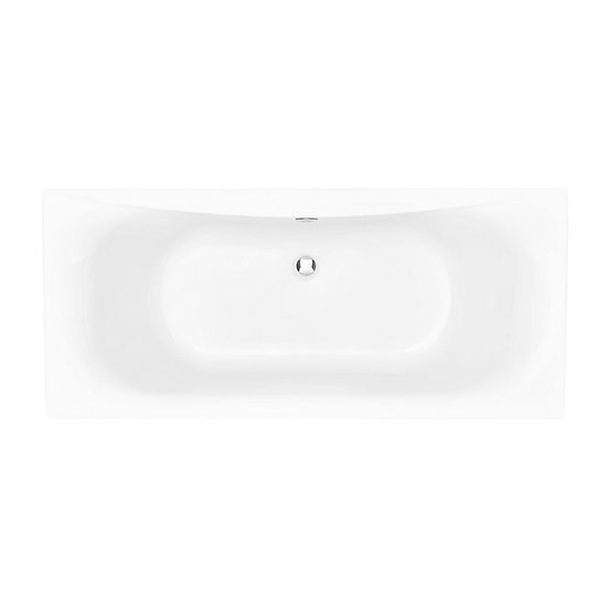Claverton Acrylic Double Ended Fitted Bath 400mm High | Heritage