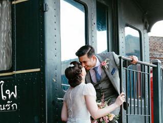 รถไฟกับการถ่ายรูป แต่งงาน
