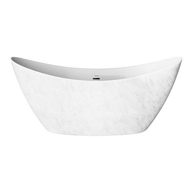 Wenlock Marble Effect Freestanding Acrylic Double Ended Bath | Heritage