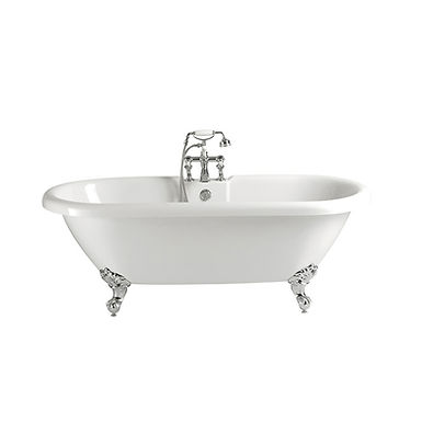 Baby Oban Freestanding Acrylic Double Ended Roll Top Bath   Heritage