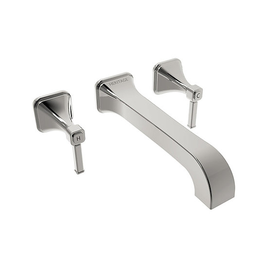 Somersby Wall Mounted Bath Filler | Heritage Chrome