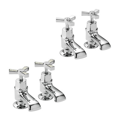 Gracechurch 2 Taphole Bath Pillar Taps | Heritage