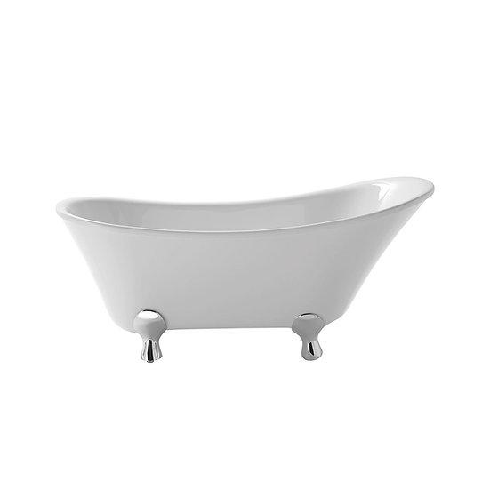 Grantham Freestanding Acrylic Slipper Bath   Heritage