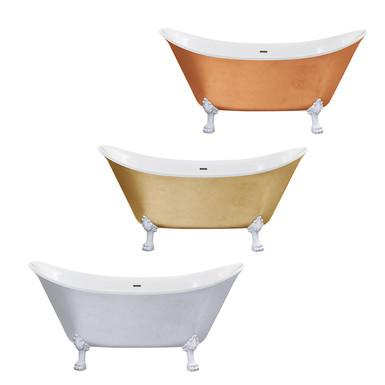 Lyddington Metallic Effect Freestanding Acrylic Double Ended Bath | Heritage