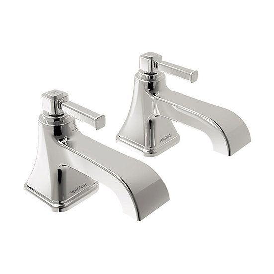 Somersby 2 Taphole Bath Pillar Taps | Heritage Chrome