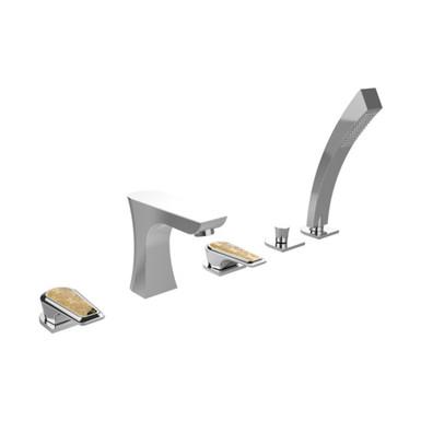 Lymington 5 Taphole Bath Shower Mixer | Heritage