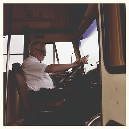 FIlter Film - Ebbe Engmark playing the role of the angry bus driver.