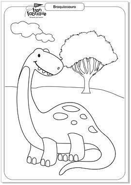 Dinossauros para colorir - Braquiossauro