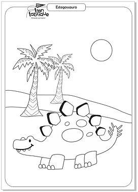 Dinossauros para colorir - Estegossauro.