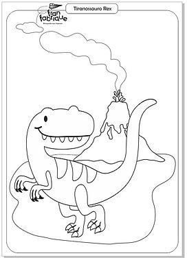 Dinossauros para colorir - Tiranossauro