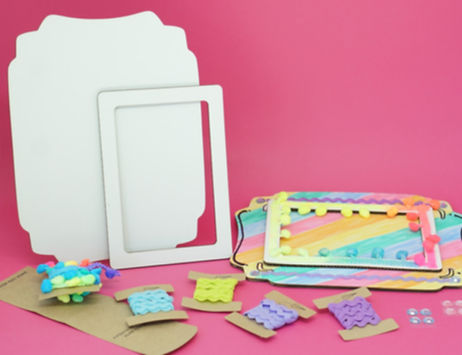 Moldura, ou porta retratos? Kit de atividades para desenvolver a criatividade das crianças.