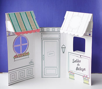 Salão de Beleza de papelão