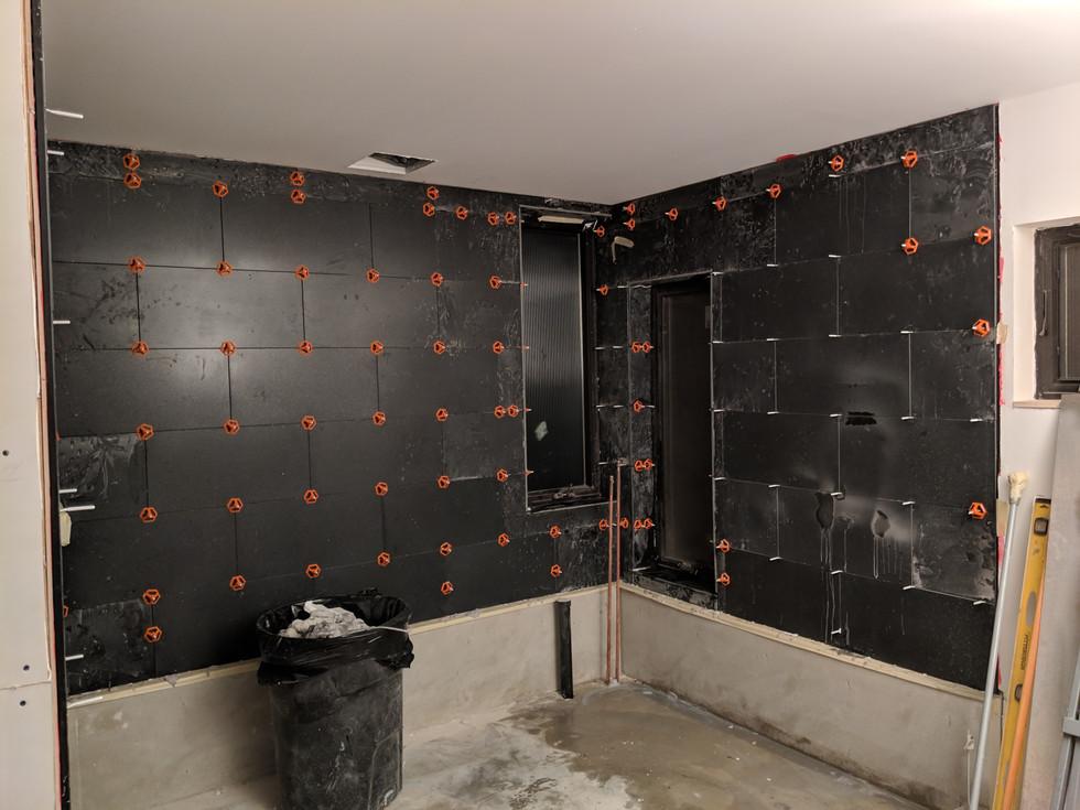 Marble tile for shower