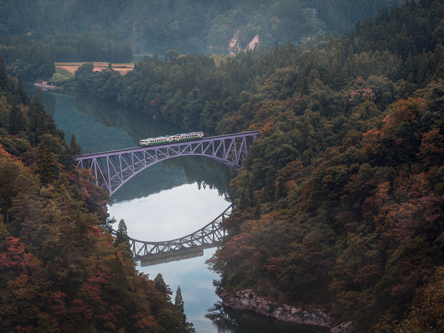 La ligne de train Tadami