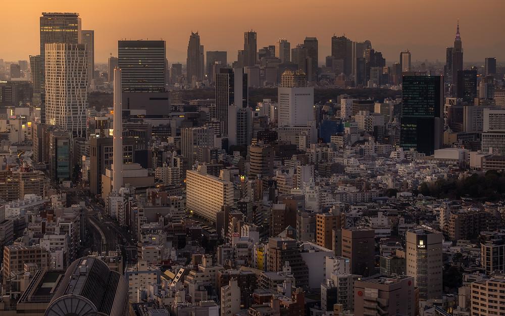 Tokyo city, vue de tokyo, japon, japa, photo du japon