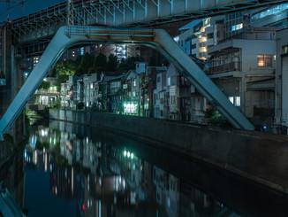 Le long de rivières de Tokyo