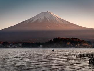 Fishing around the mount Fuji