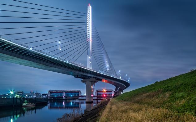 Arakawa river bridge