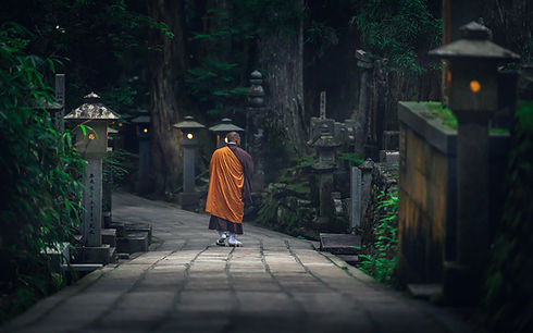 Koyasan Monk-Nicolas Wauters Japan photo