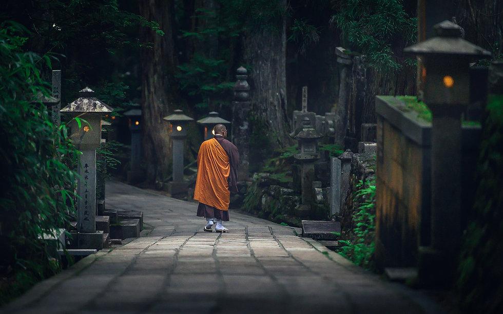 Koyasan Monk-Nicolas Wauters Japan photo