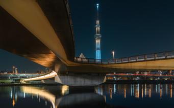 Skytree and bridge