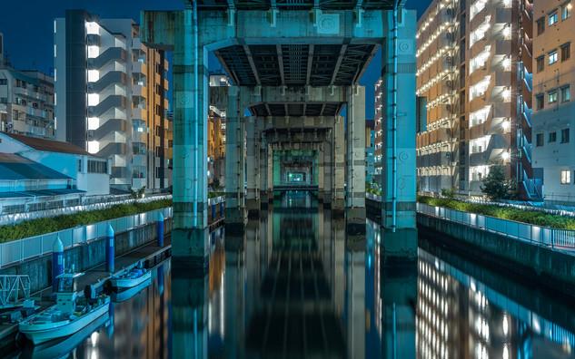 Under the Tokyo highway