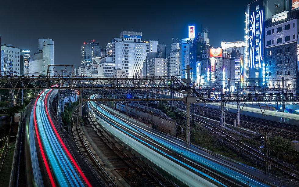Ikebukuro Trains-Nicolas Wauters Japan Photographer