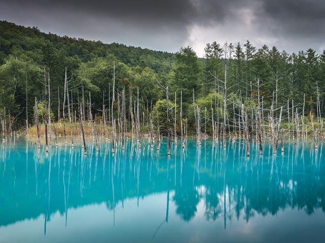 Aoi-ike ou l'étang bleu d'Hokkaido