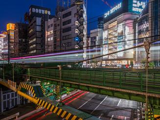 Dans le quartier de Shibuya