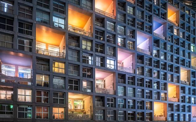 Appartements colorés de Tokyo
