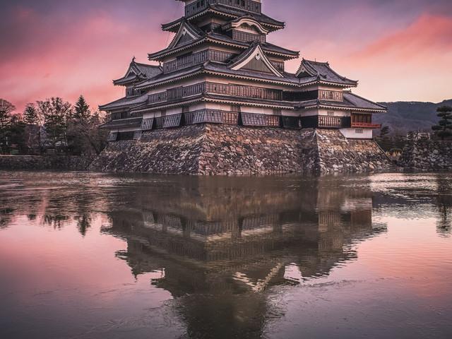 Frozen Matsumoto Castle