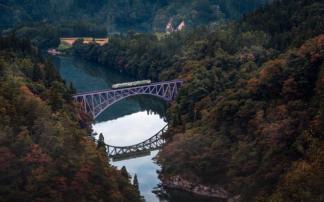 La ligne de train Tadami à Fukushima