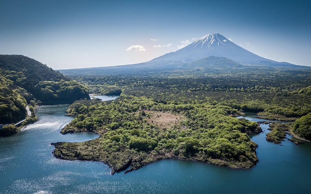 Aerial view of Mount-Fuji