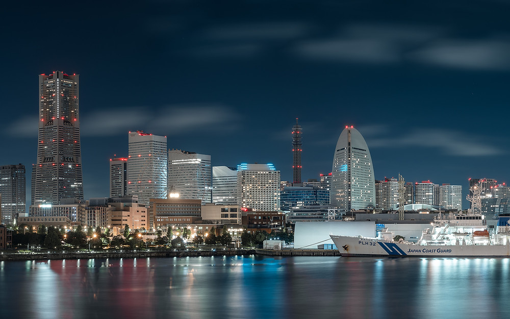 Yokohama, skyline, japan, japon
