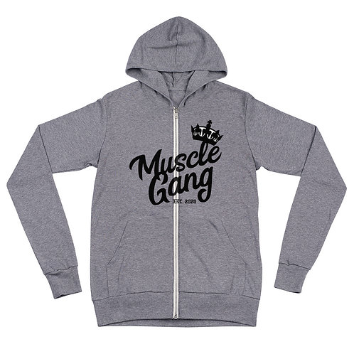 Muscle Gang Unisex zip hoodie