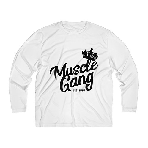 Muscle Gang Men's Long Sleeve Moisture Absorbing Tee