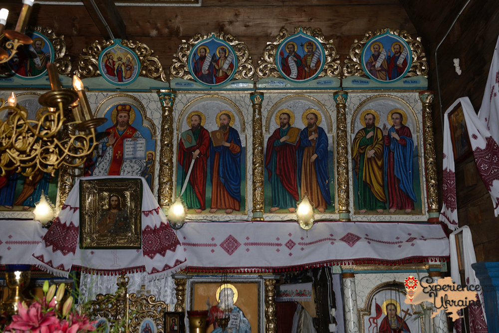 Recent icons in village church-imp