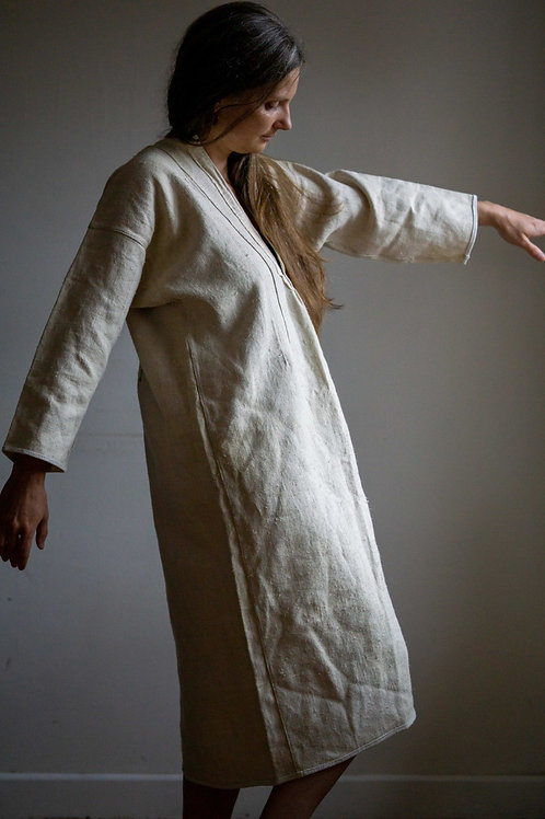 Antique hemp dress