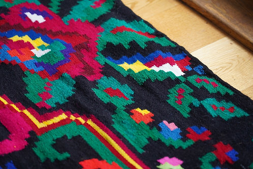 Modern handwoven kilim from Romania.